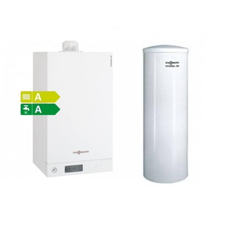 Poza Centrala termica Viessmann Vitodens 100-W 26 kW cu Boiler monovalent Viessmann Vitocell 120 litri