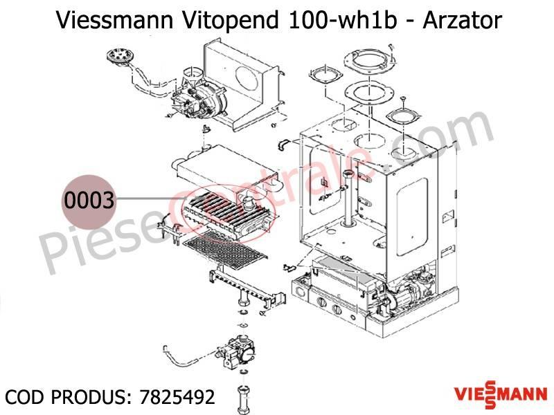 Poza Arzator centrala termica Viessmann Vitopend 100 24 kw