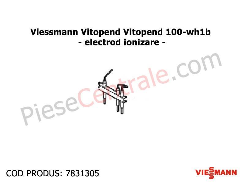 Poza Electrod ionizare centrala termica Viessmann Vitopend 100