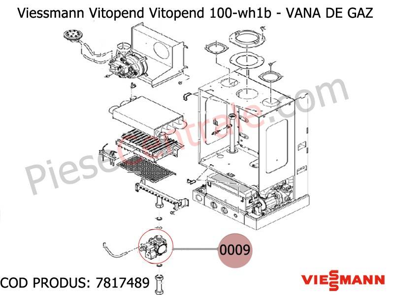 Poza Vana gaz centrala termica Viessmann Vitopend 100 WH1B, WH0, 111-W WHSB turbo