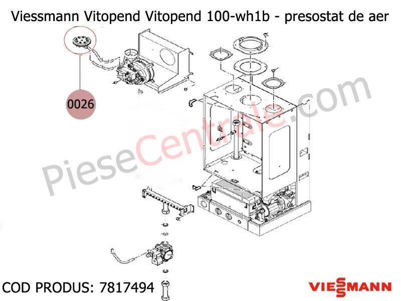 Poza Presostat aer centrala termica Viessmann Vitopend 100