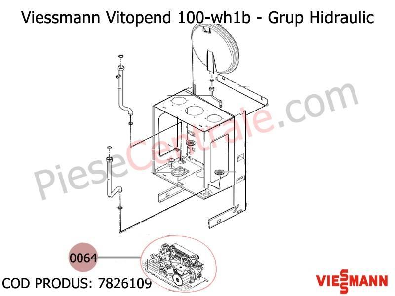Poza Grup hidraulic centrale termice Viessmann Vitopend 100 WH1B 24 kw