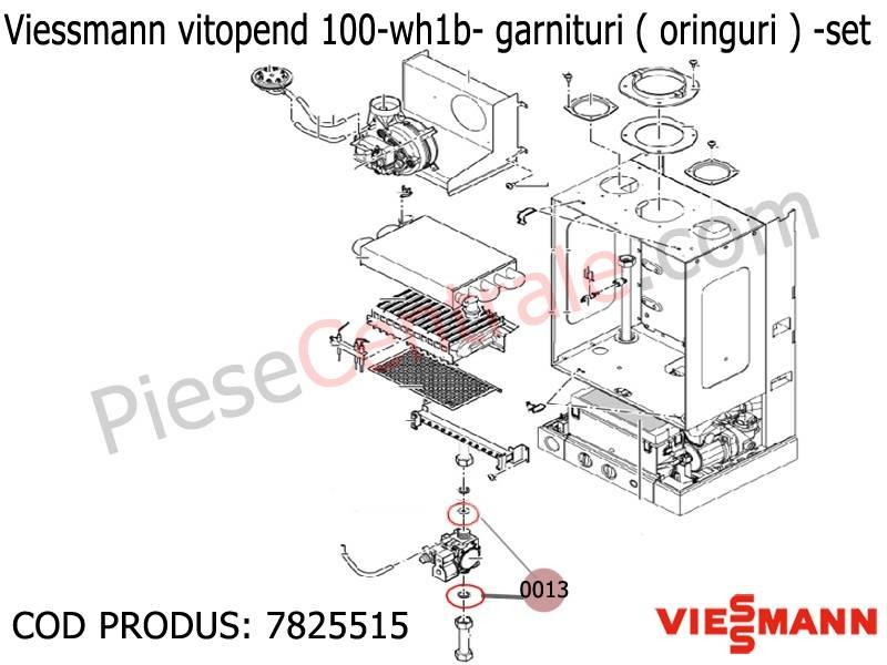 Poza Garnituri oringuri vana de gaz centrale Termice Viessmann Vitopend 100 WH1B