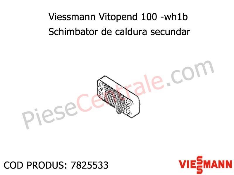 Poza Schimbator de caldura in placi secundar centrale termice Viessmann Vitopend 100 WH1B 24 kw