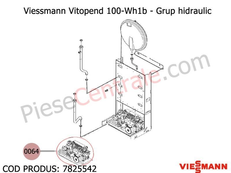 Poza Grup hidraulic centrale Viessmann Vitopend 100 WH1B 30 kw
