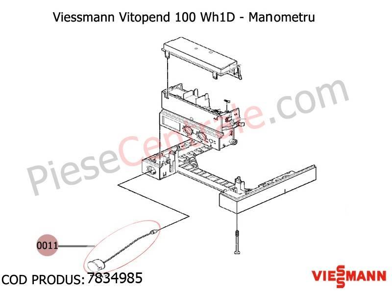 Poza Manometru centrale termice Viessmann Vitopend 100 WH1D, Vitodens 100 WB1B
