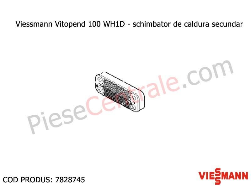 Poza Schimbator de caldura secundar ACM centrala termica Viessmann Vitopend 100 WH1D 24 kw