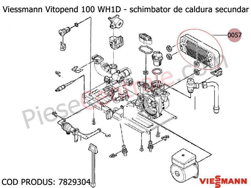 Poza Schimbator de caldura secundar ACM in placi centrala Viessmann Vitopend 100 WH1D 31 kw
