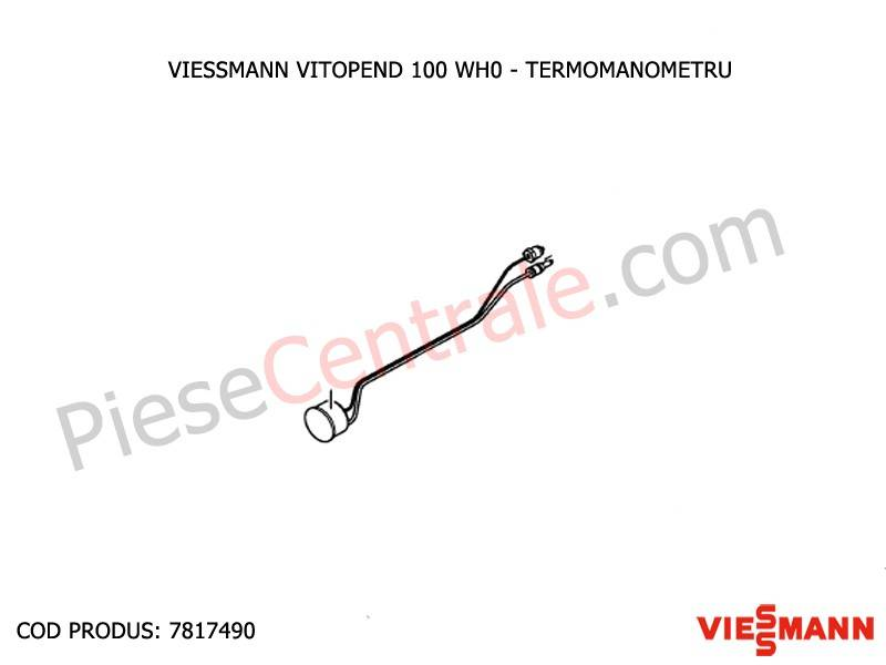 Poza Termomanometru centrala termica Viessmann Vitopend 100 WH0