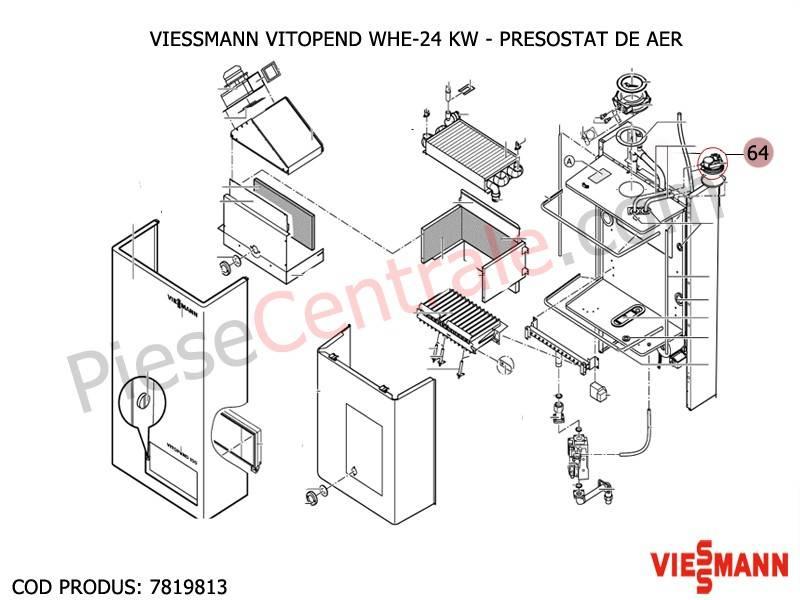Poza Presostat de aer centrala termica Viessmann Vitopend WHE