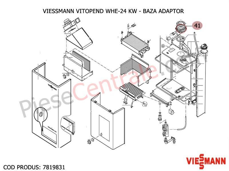 Poza Baza adaptor centrala termica Viessmann Vitopend WHE