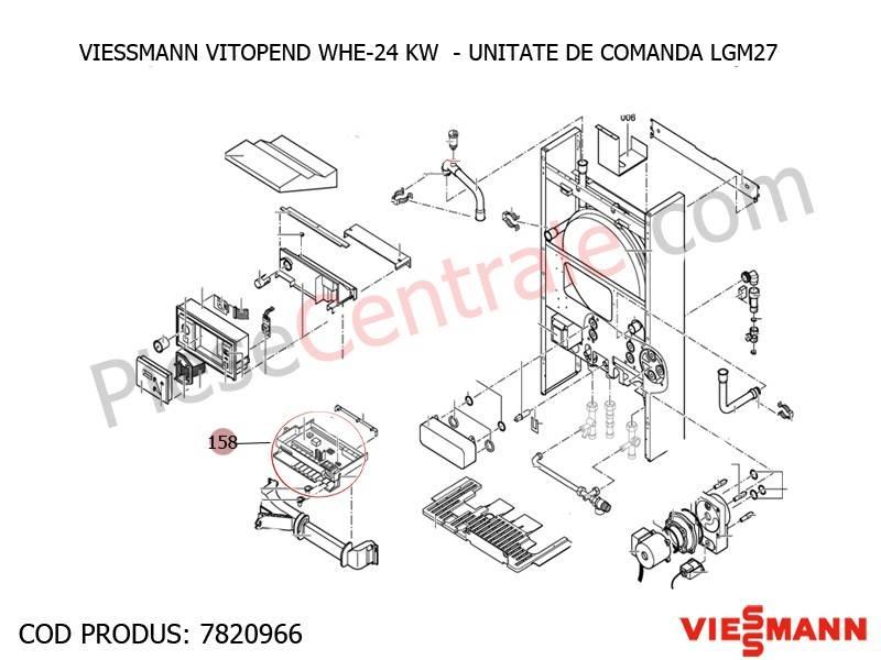 Poza Unitate de comanda LGM 27 centrala termica Viessmann Vitopend WHE