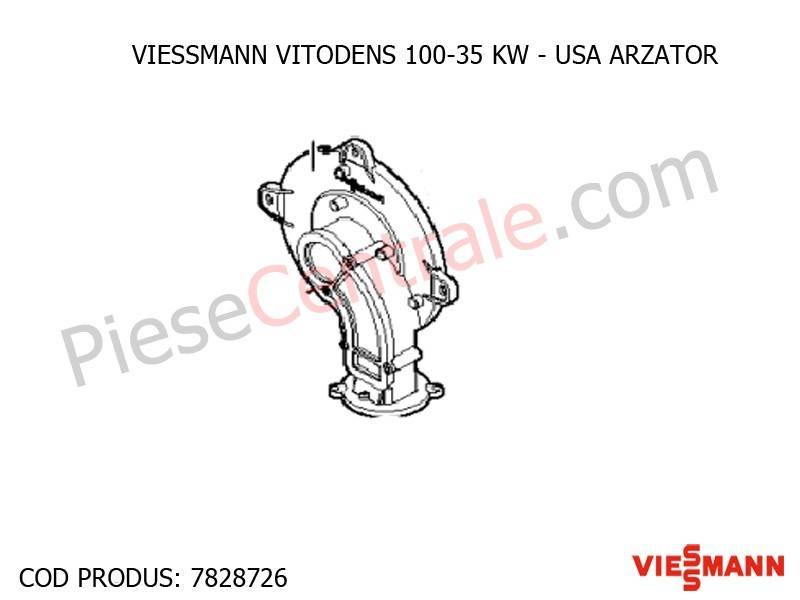 Poza Usa arzator centrala termica Viessmann Vitodens 100 35 WB1B
