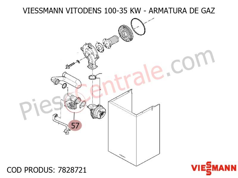Poza Armatura de gaz centrala termica Viessmann Vitodens 100 35 WB1B