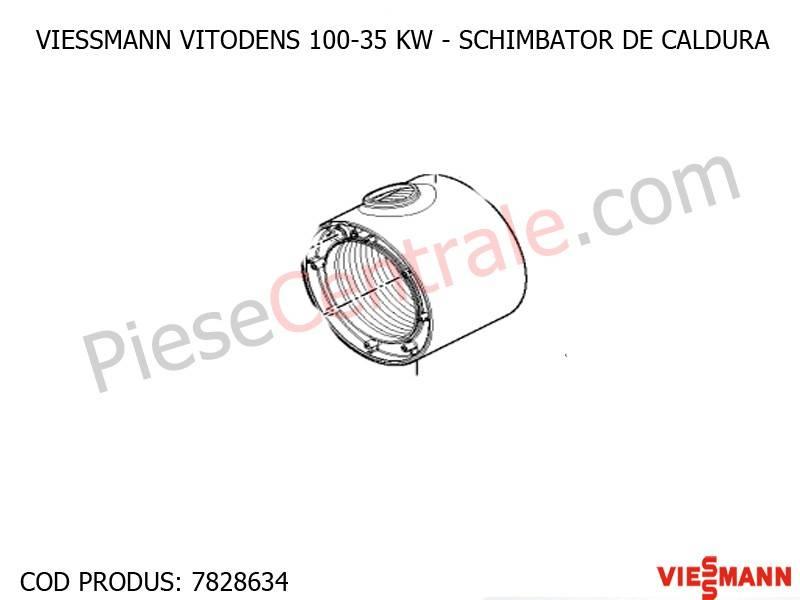 Poza Schimbator de caldura primar centrala termica Viessmann Vitodens 100 35 WB1B, Vitodens 050-W BPJD