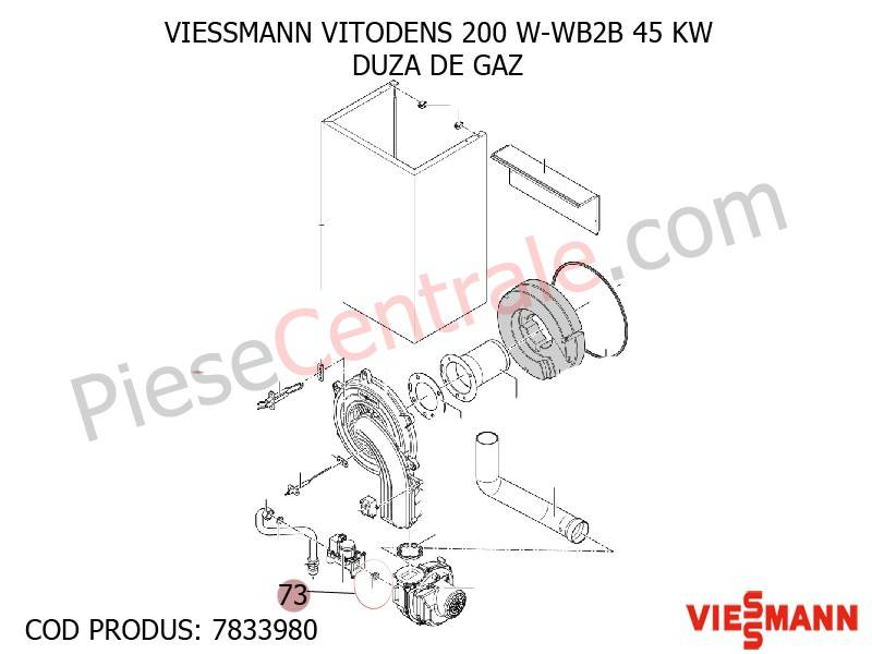 Poza Duza de gaz centrala termica VITODENS 200 W-WB2B 45 KW