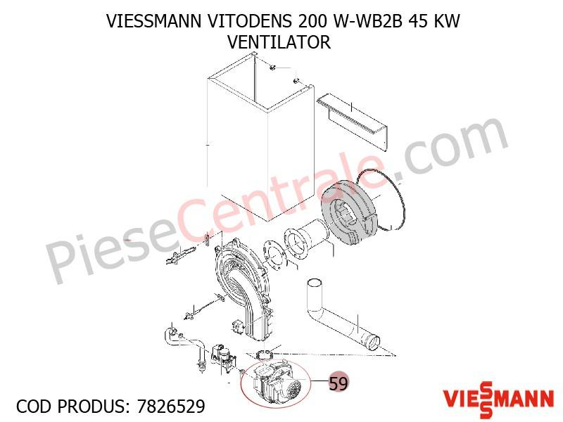 Poza Ventilator centrala termica VITODENS 200 W-WB2B 45 KW