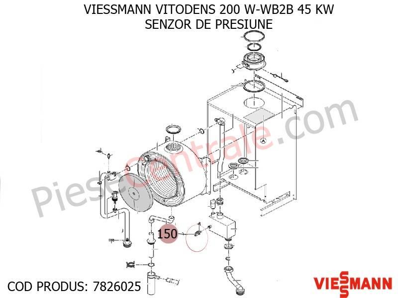 Poza enzor de presiune centrala termica Viessmann VITODENS 200 W-WB2B 45 KW