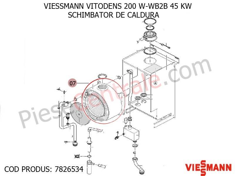 Poza Schimbator de caldura centrala termica Viessmann VITODENS 200 W-WB2B 45 KW