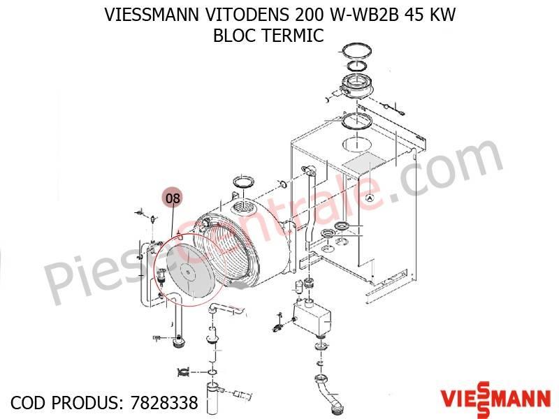 Poza Bloc Termic centrala termica Viessmann VITODENS 200 W-WB2B 45 KW