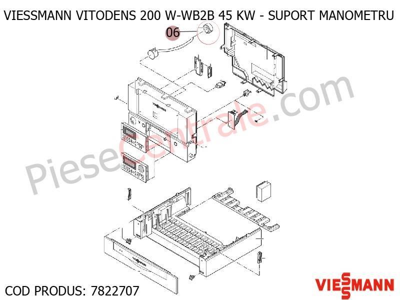 Poza Suport manometru centrale termice Viessmann Vitodens 200 si Vitodens 300