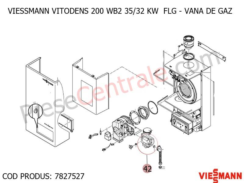 Poza Vana de gaz centrala termica Viessmann VITODENS 200 WB2 35/32 KW FLG