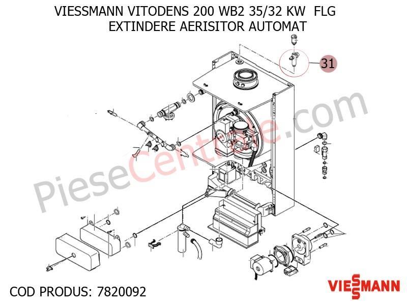 Poza Extindere aerisitor automat centrala termica Viessmann Vitodens 200