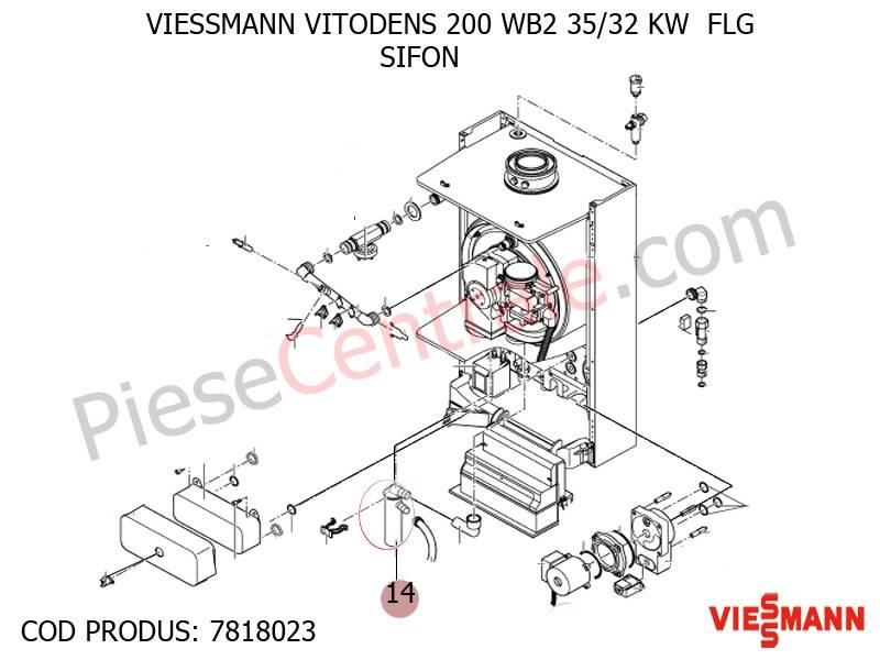 Poza Sifon condens centrala termica Viessmann Vitodens 200