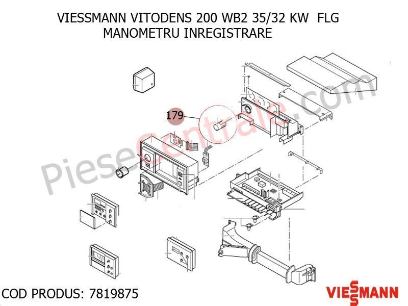 Poza Manometru inregistrare centrala termica Viessmann Vitodens 200
