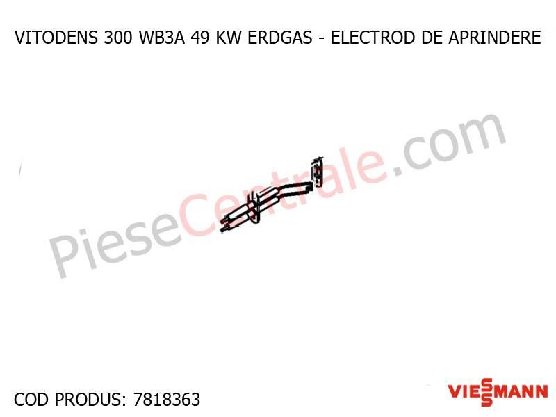 Poza Electrod de aprindere centrala termica Viessmann Vitodens 300