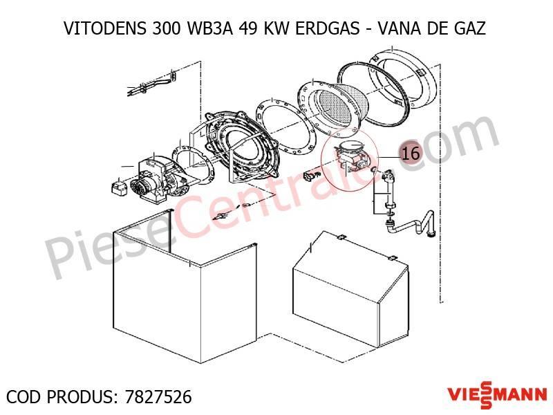Poza Vana de gaz centrala termica Viessmann Vitodens 300