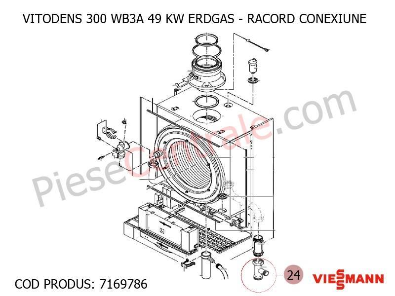 Poza Racord conexiune centrala termica Viessmann Vitodens 300