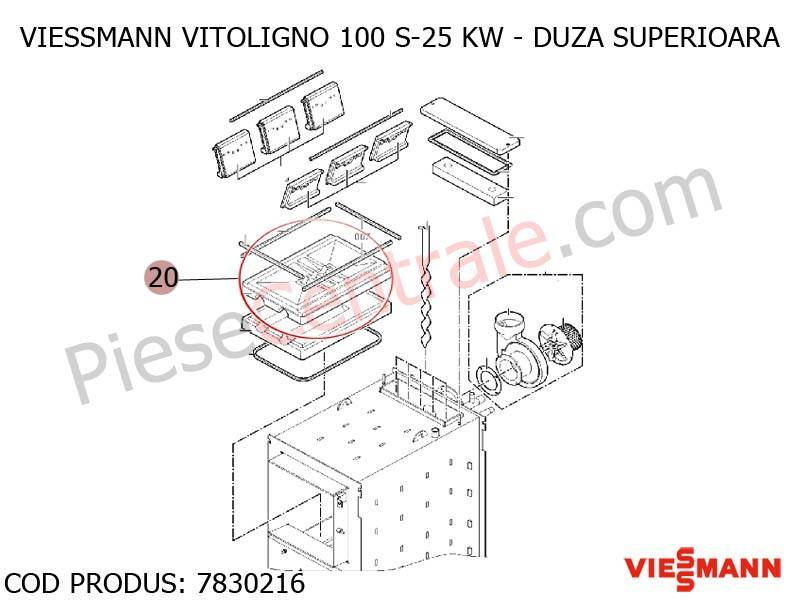 Poza Duza superioara centrala pe lemne Viessmann Vitoligno 100 S 25 kw