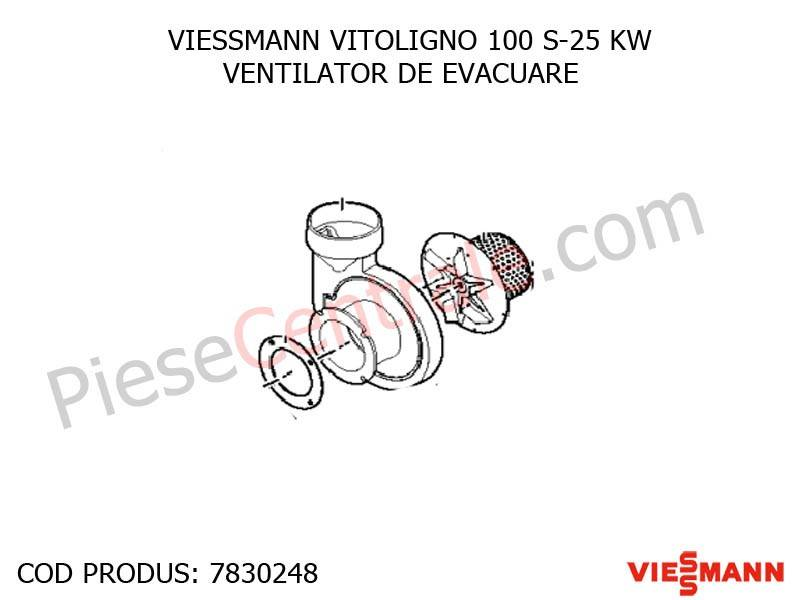 Poza Ventilator de evacuare centrala pe lemne Viessmann Vitoligno 100 Sv