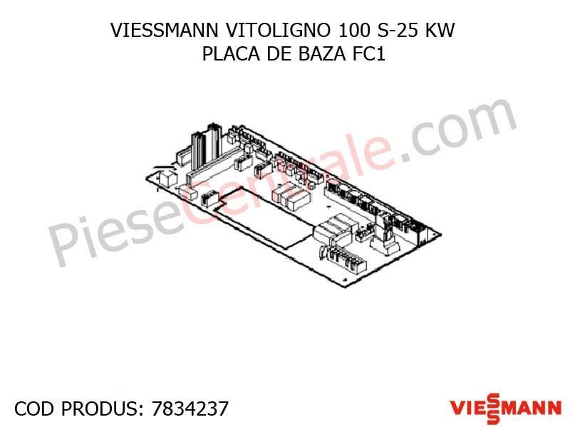 Poza Placa de baza FC1 centrala pe lemne Viessmann Vitoligno 100 S