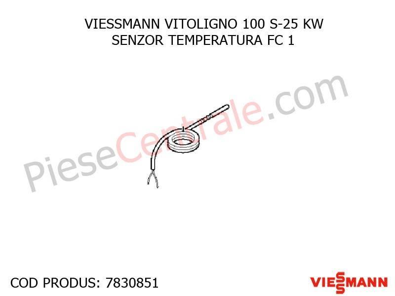 Poza Senzor temperatura FC1 centrala pe lemne Viessmann Vitoligno 100 S