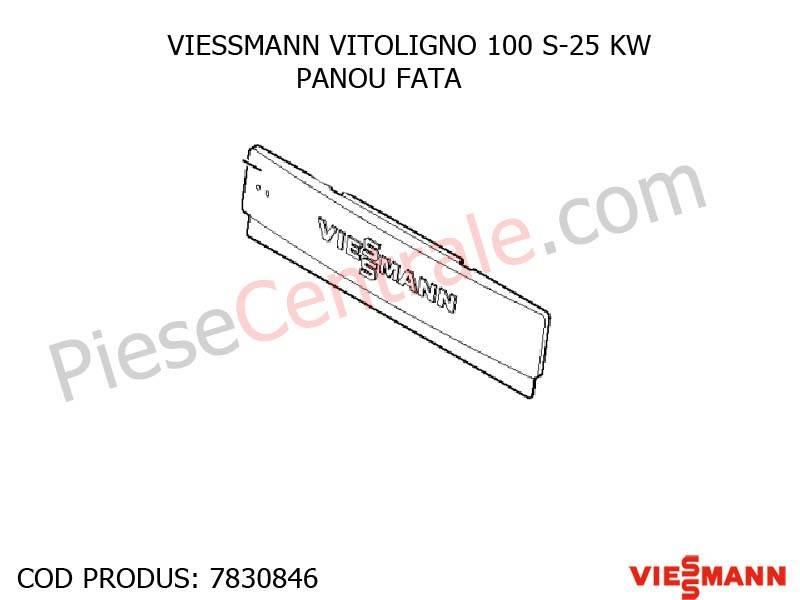 Poza Panou fata centrala pe lemne Viessmann Vitoligno 100 S