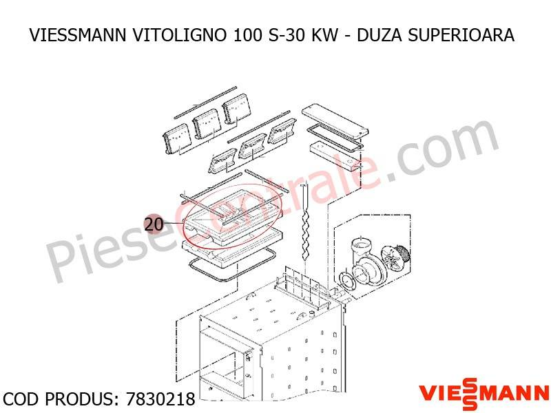 Poza  Duza superioara centrala pe lemne Viessmann Vitoligno 100 S 30 kw