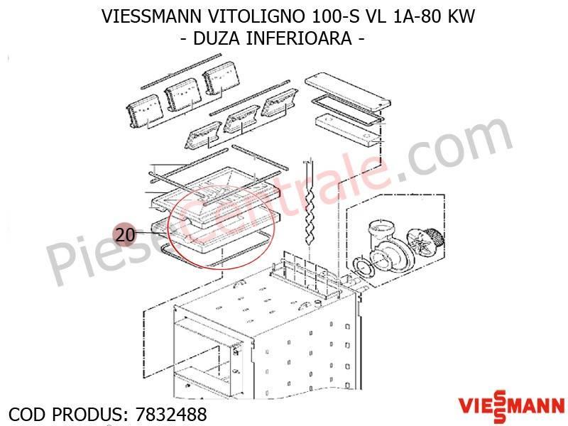 Poza Duza inferioara centrala pe lemne Viessmann Vitoligno 100 S VL 1A-80 KW