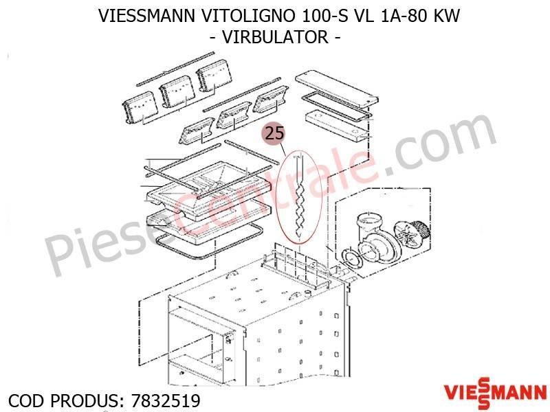 Poza Virbulator centrala pe lemne Viessmann Vitoligno 100 S VL 1A-80 KW