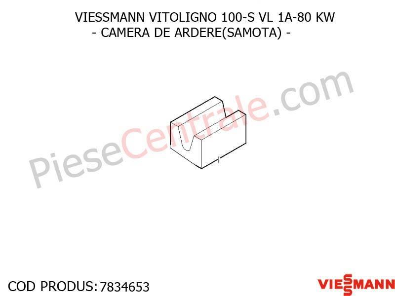 Poza Samota camera ardere centrala pe lemne Viessmann Vitoligno 100 S VL 1A-80 KW
