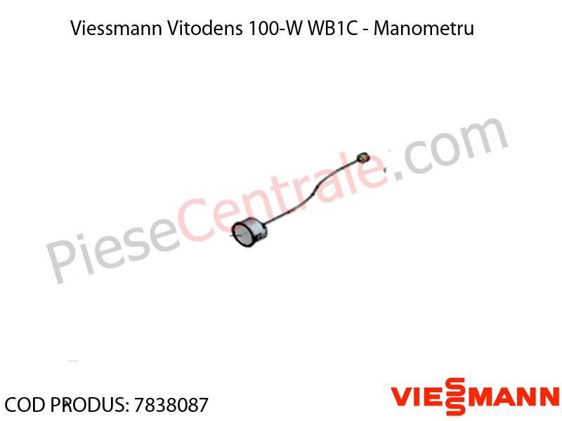 Poza Manometru centrala termica Viessmann Vitodens 100-W WB1C