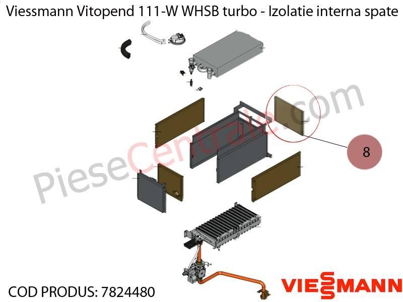 Poza Izolatie interna spate centrala termica Viessmann Vitopend 111-W WHSB turbo