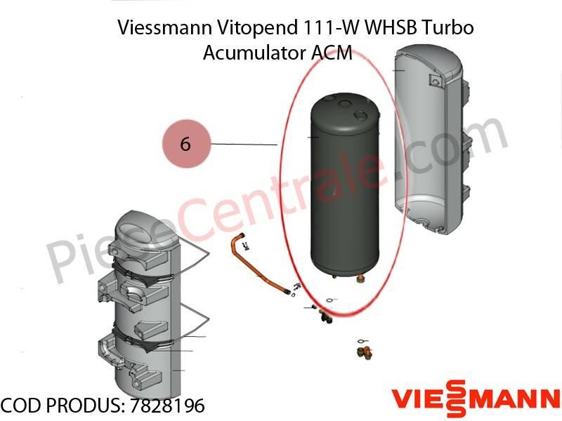 Poza Acumulator acm centrala termica Viessmann Vitopend 111-W WHSB turbo