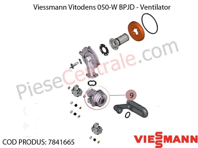 Poza Ventilator NRG 118 centrala termica Viessmann Vitodens 050-W BPJD