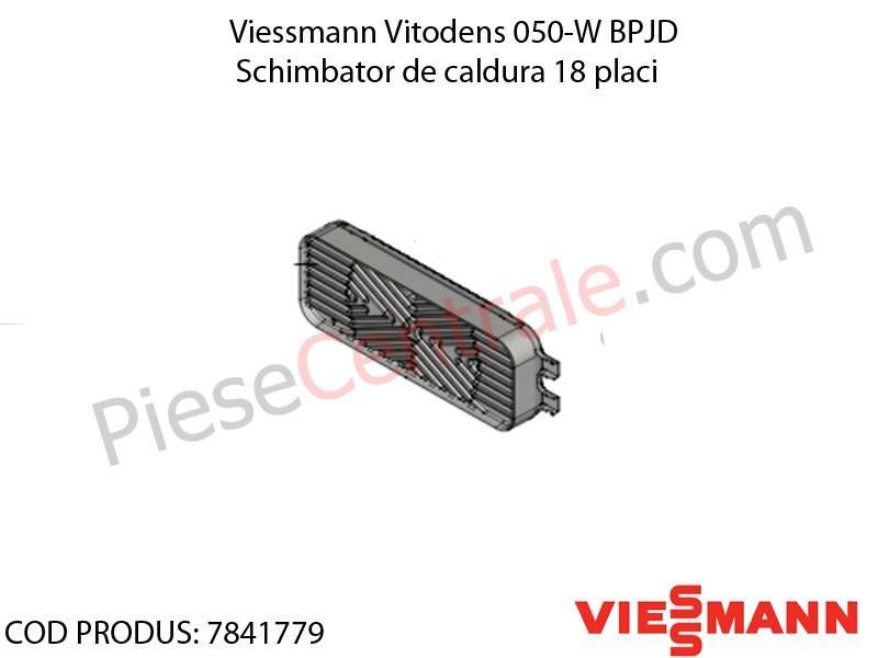 Poza Schimbator de caldura 18 placi centrala termica Viessmann Vitodens 050-W BPJD