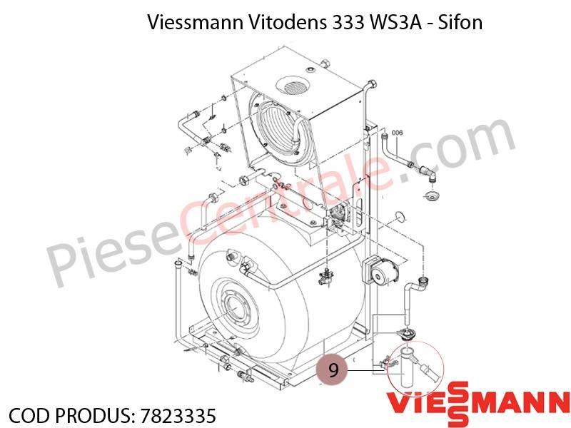 Poza Sifon centrala termica Viessmann Vitodens 333 WS3A