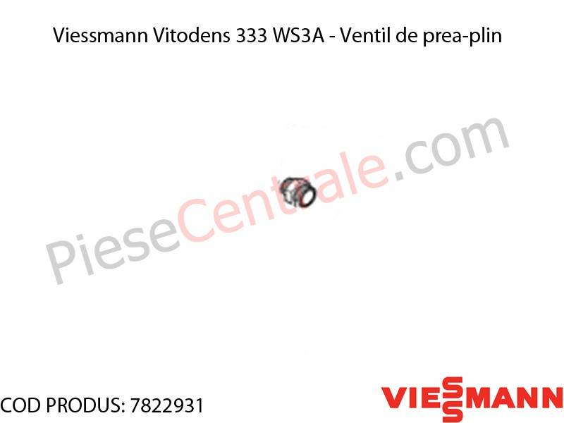 Poza Ventil de prea-plin centrala termica Viessmann Vitodens 333 WS3A