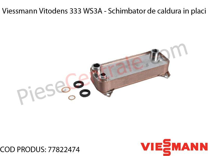 Poza Schimbator de caldura in placi centrala termica Viessmann Vitodens 333 WS3A