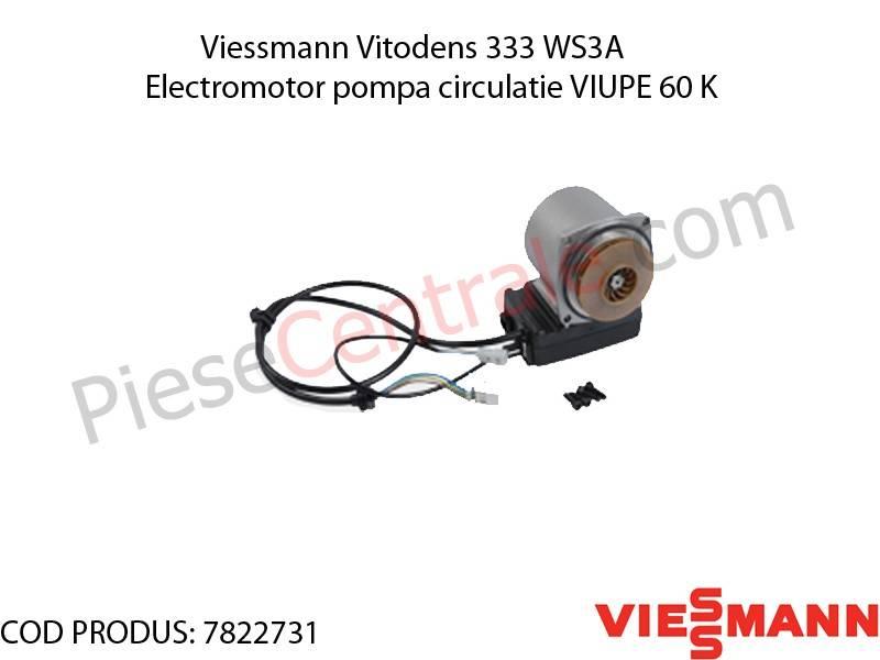 Poza Electromotor pompa circulatie VIUPE 60 K centrala termica Viessmann Vitodens 333 WS3A